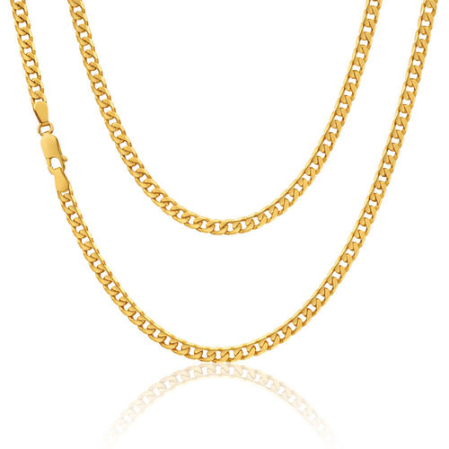 Mens 9ct yellow Gold solid Curb Chain 24 inch