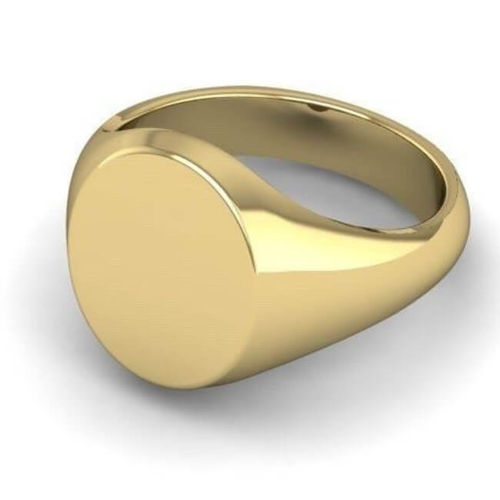 Men's solid 9ct Gold Oval Court Signet Ring 16mm