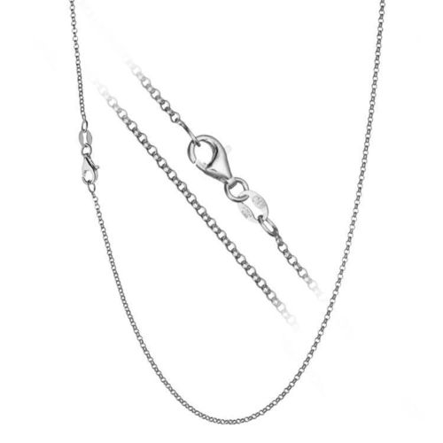 Womens 22 inch Platinum 950 Rollo Chain Necklace