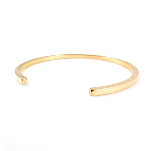 Solid 9ct Gold 3mm square Cuff Bangle Bracelet