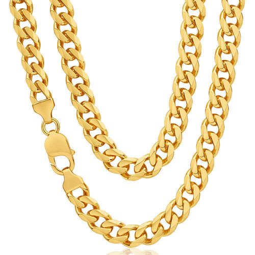 9ct yellow Gold heavy Curb Chain 22 inch 95 grams