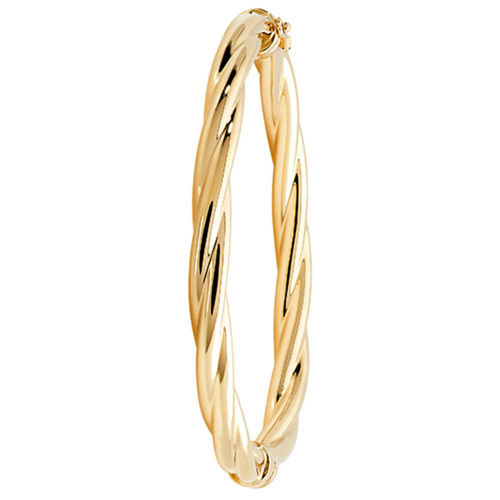 Womens 9ct yellow Gold twist hinged Bangle 8 grams