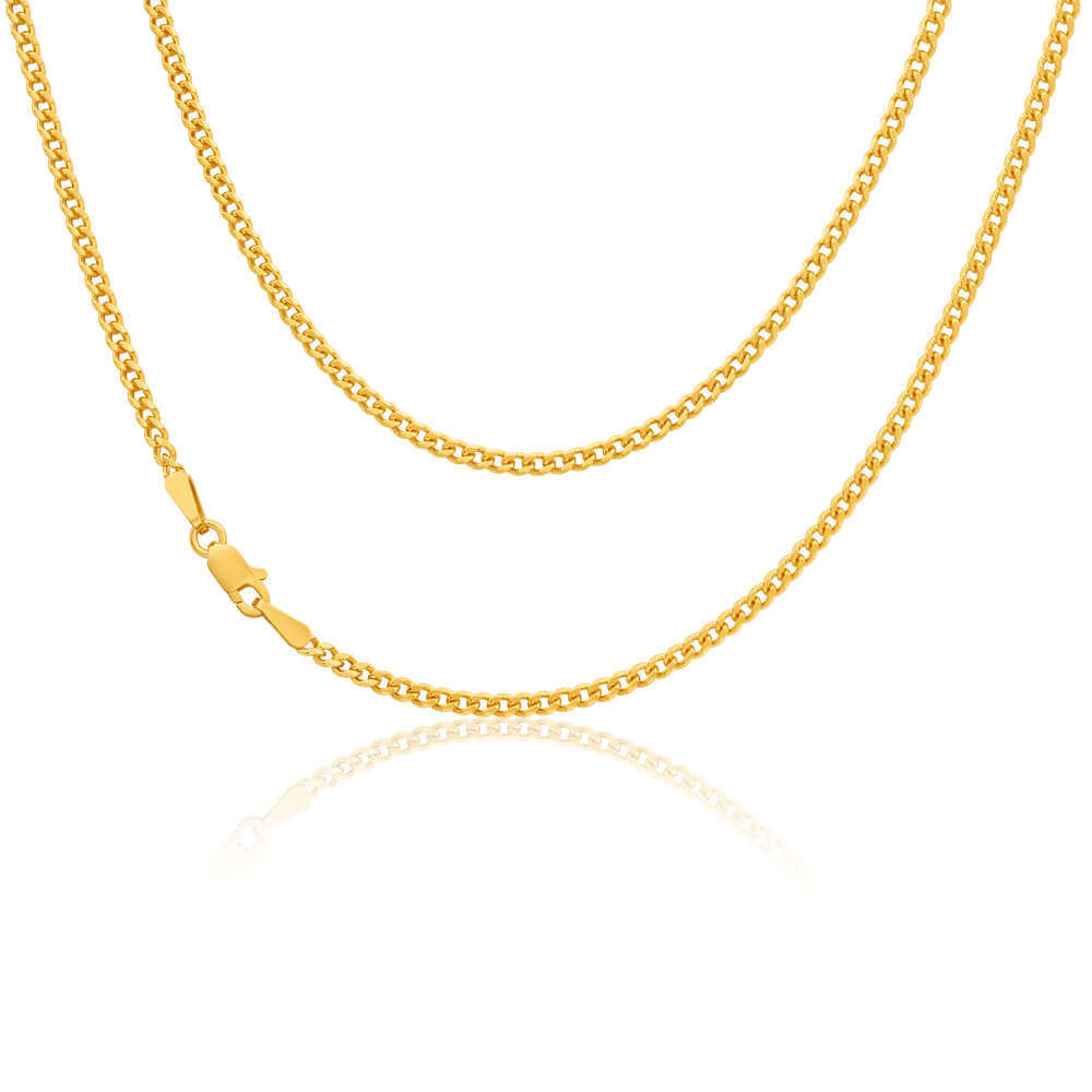 cartier necklace cuban link itm wide paris is gold yellow loading chain flat s image