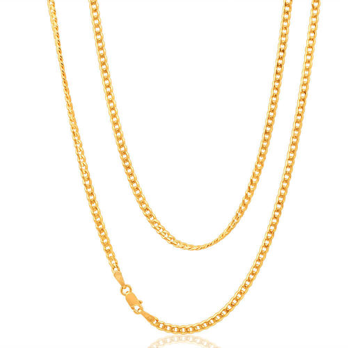 9ct yellow Gold close link Curb Chain 22 inch 19 grams