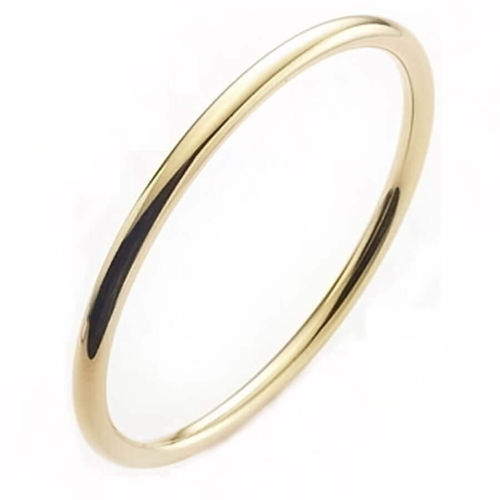Solid 18ct yellow Gold 4mm round Golf Bangle 44 grams