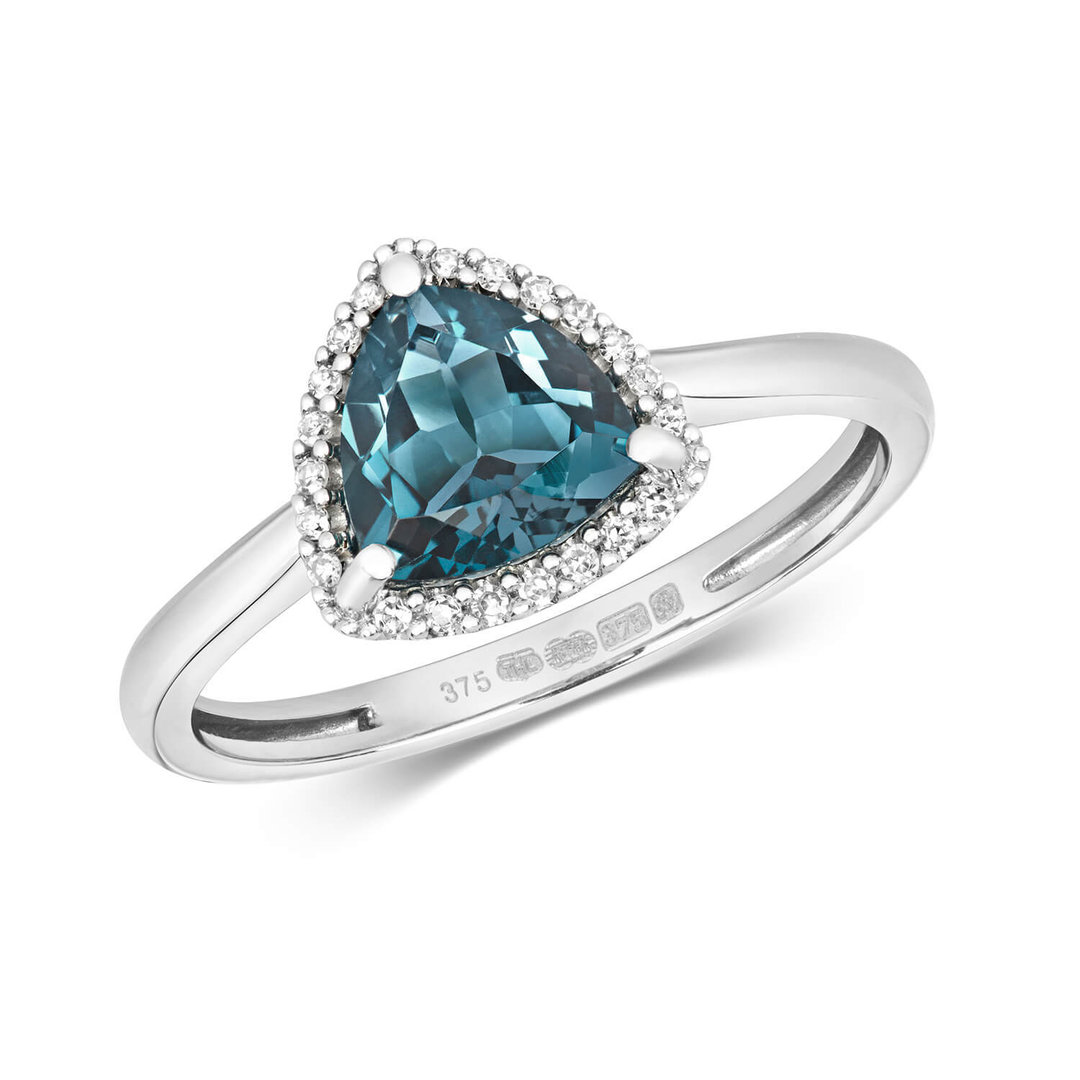 product octagon gold blue ring image engagement and topaz white diamond rings