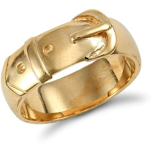 Womens 9ct yellow Gold Buckle Ring 8 grams
