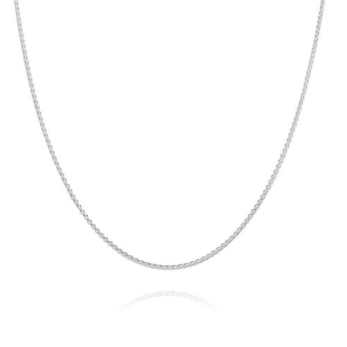 18ct white Gold Spiga Chain Necklace 20 inch