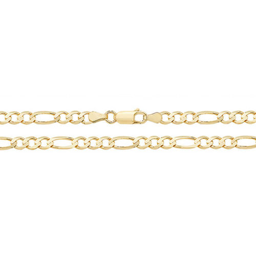 9ct Gold Figaro Chain Necklace 16 inch 7 grams