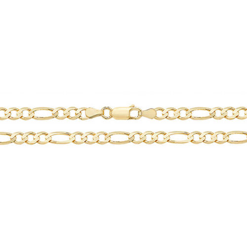 9ct Gold Figaro Chain Necklace 20 inch 9 grams