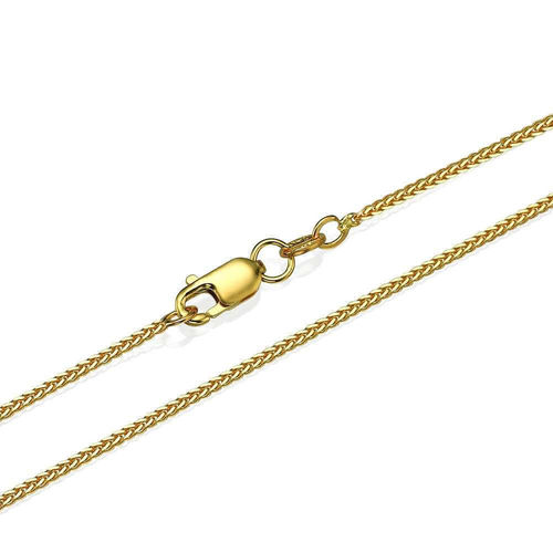 18ct yellow Gold Spiga Chain Necklace 18 inch 3 grams