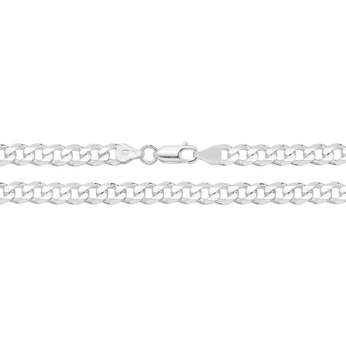 Solid Sterling Silver Curb Chain 24 inch 45 grams