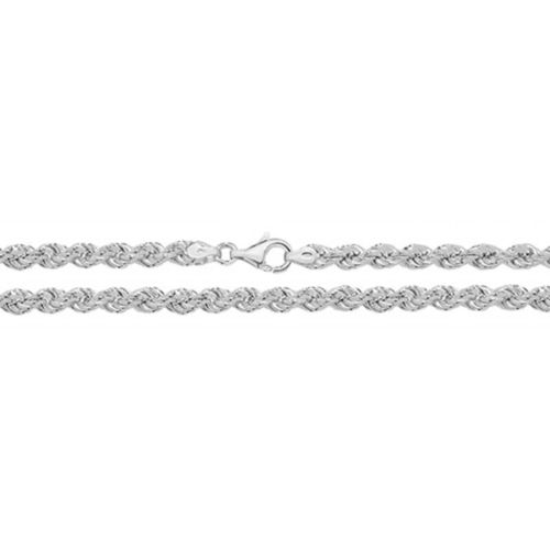 Sterling Silver Rope Chain Necklace 22 inch 32 grams