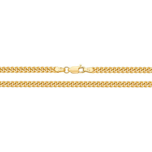 9ct Gold close Curb Chain Necklace 20 inch 17 grams