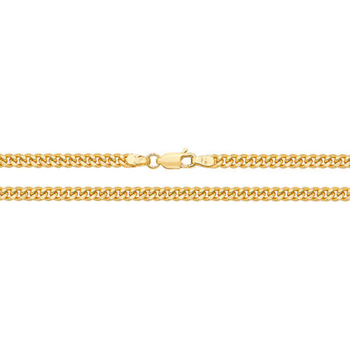 9ct Gold solid Cuban Curb Chain Necklace 22 inch