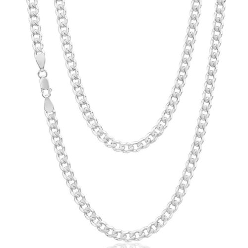 9ct White Gold 24 inch Curb Chain 20 grams