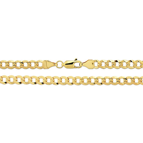 Men's 9ct Gold  flat bevelled Curb Chain 20 inch 9 grams