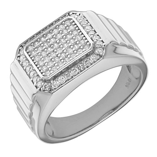 Men's Sterling Silver CZ stone Ring
