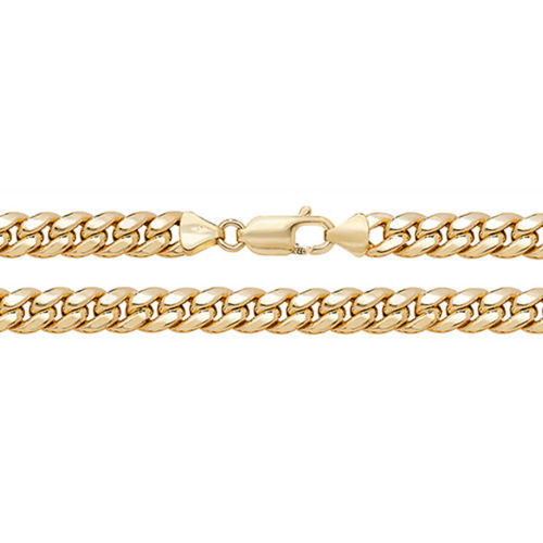 Men's semi solid 9ct Gold Cuban Curb Chain 20 inch