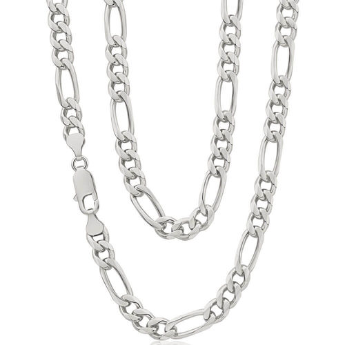 Mens solid Sterling Silver 22 inch Figaro Chain 40 grams