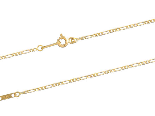 18ct Yellow Gold Figaro Necklace 16 inch
