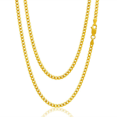 Mens 9ct yellow Gold Curb Chain 20 inch 22 grams