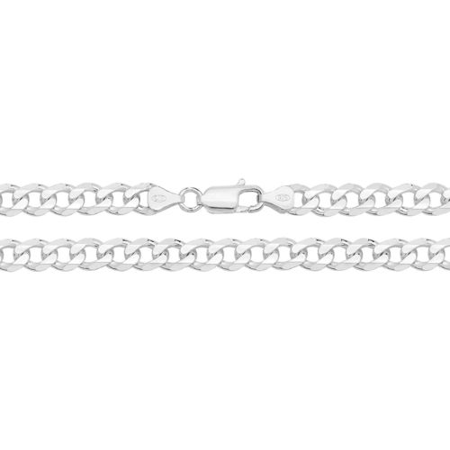 Mens solid Sterling Silver Curb Chain 20 inch 49 grams