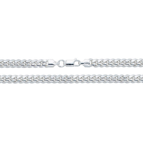 Men's solid Sterling Silver Cuban Curb Chain 22 inch