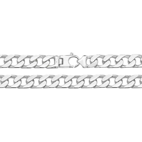 Men's heavy Sterling Silver Square Curb Chain 114 grams 24 inch