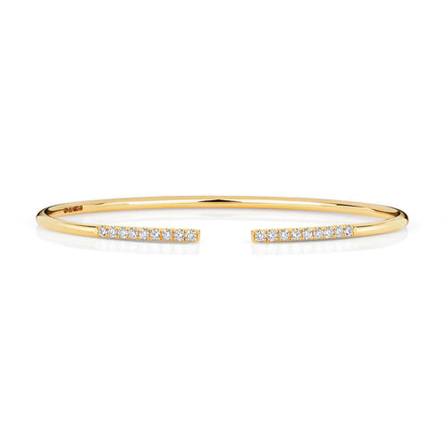 18ct Yellow Gold Diamond Bangle Bracelet