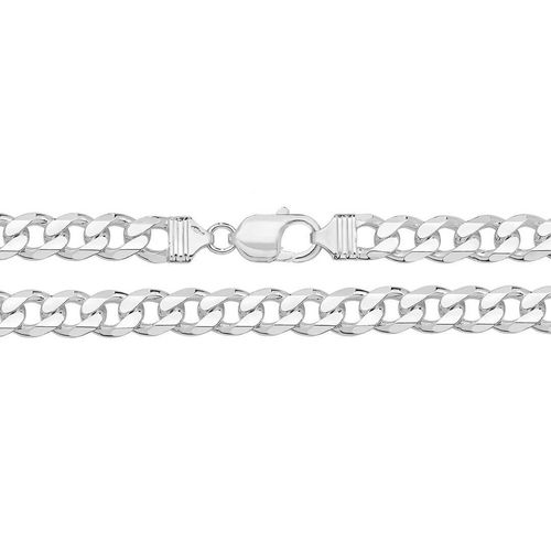 Men's solid heavy Sterling Silver Curb Chain 22 inch 80 grams