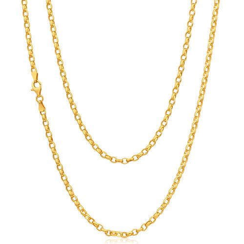 Women's 20 inch solid 9ct yellow Gold Belcher Chain Necklace