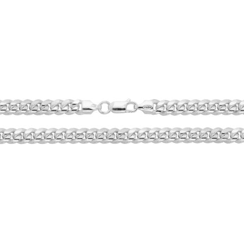Men's solid Sterling Silver Cuban Curb Chain 20 inch 44 grams