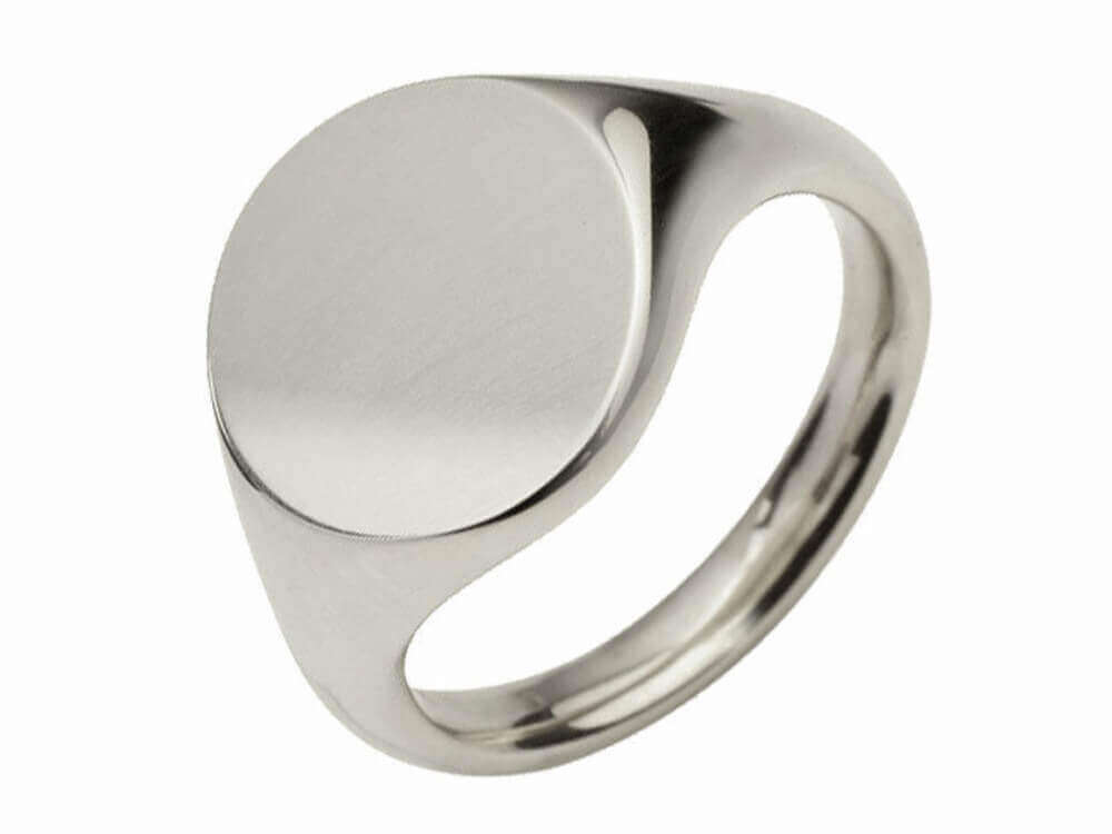 925 Sterling Silver Round Signet Rings Stamped 13mm,11mm UK Hallmarked Solid