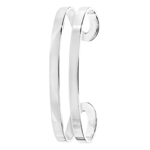 Womens Sterling Silver Oval Cuff Bangle 17 grams