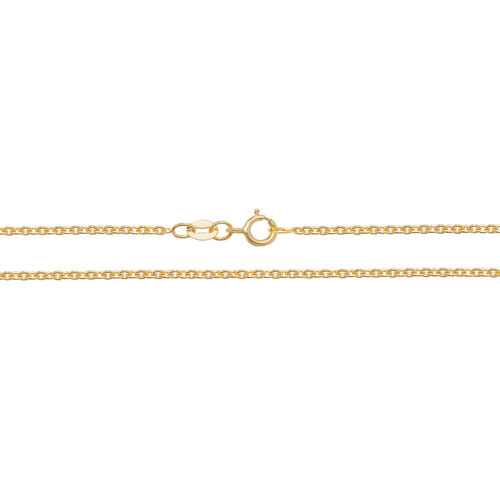 18ct Yellow Gold Cable Chain Necklace 18 inch