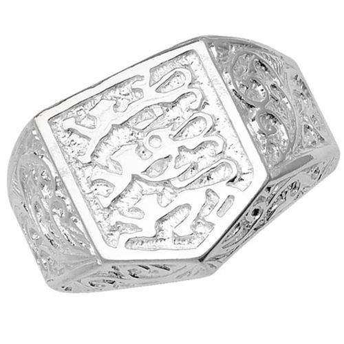 Men's Sterling Silver 3 Lions Ring 7 1/2 grams