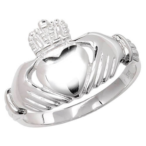 Womens Sterling Silver Claddagh Ring 4 grams