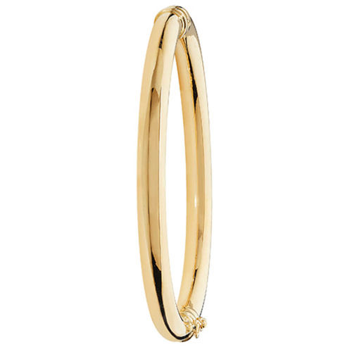 9ct Yellow Gold round hinged Bangle 8 grams