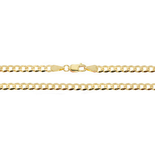 Ladies 9ct yellow Gold Curb Chain Bracelet 7 inch