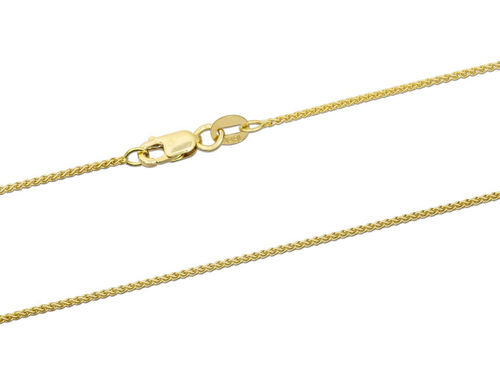 18ct Yellow Gold Spiga Chain Necklace 16 inch