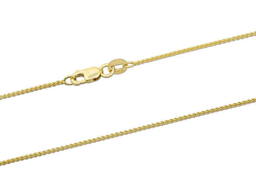 18ct Yellow Gold Spiga Chain Necklace 18 inch