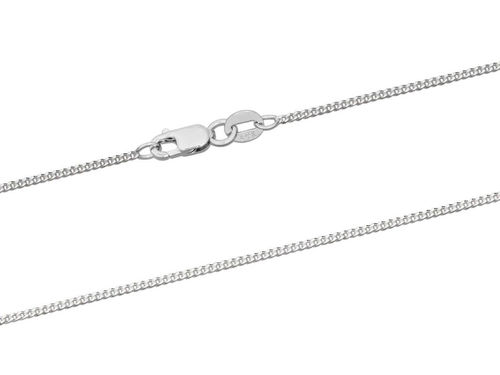 Women's 18ct White Gold Curb Chain Necklace 18 inch 3 1/2 grams