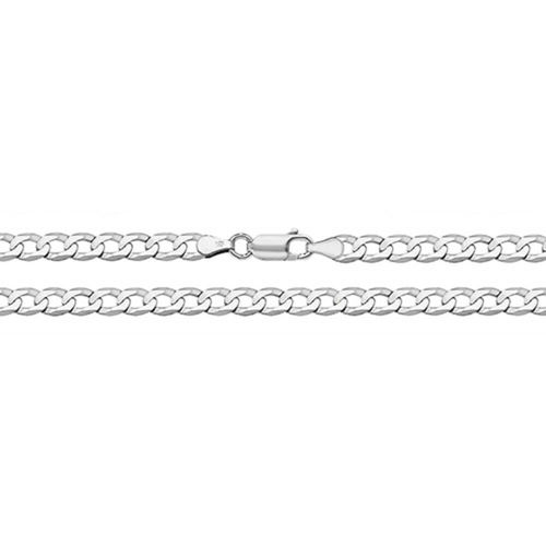 9ct White Gold Curb Chain Necklace 18 inch 7 grams