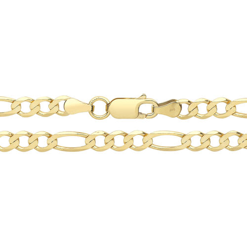 Mens 9ct Yellow Gold Figaro Chain 24 inch 10 grams