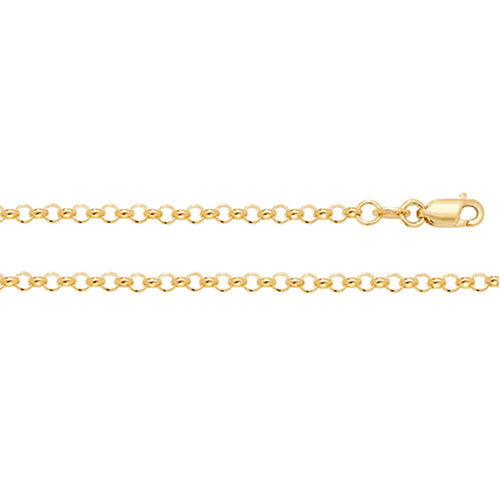 9ct Yellow Gold Belcher Chain Necklace 18 inch 5 grams