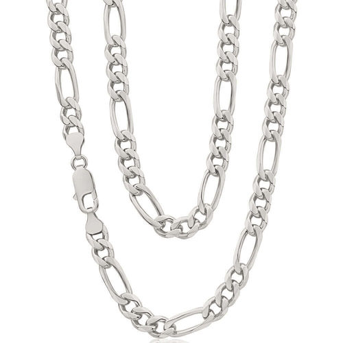 Men's Sterling Silver solid 24 inch Figaro Chain 45 grams