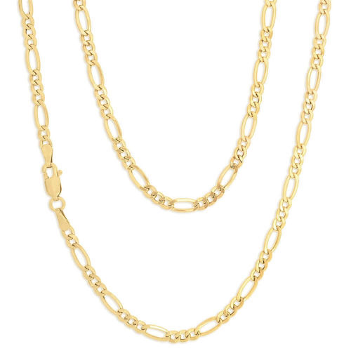 Women's solid 9ct Yellow Gold Figaro Chain Necklace 18 inch