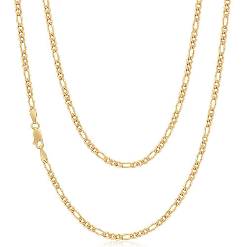 Women's 9ct Yellow Gold Figaro Chain Necklace 16 inch 5 grams
