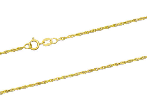 Women's 9ct Gold Rope Chain Necklace 18 inch 2 grams